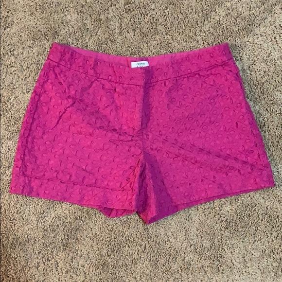 crown & ivy Pants - Hot pink crown & ivy eyelet shorts size 8